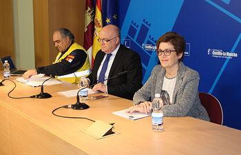 Rueda de prensa del Transporte Sanitario Terrestre en Albacete.