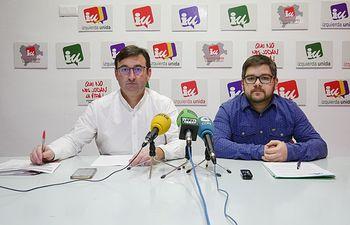 Daniel Martínez, responsable de Política Municipal y Cristian Ibáñez, coordinador provincial de Izquierda Unida Albacete.