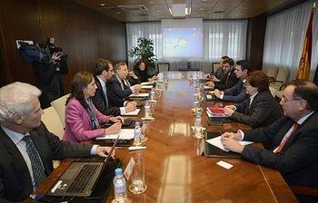 Reunión Soria-REE. Foto: Ministerio de Industria, Energía y Turismo.