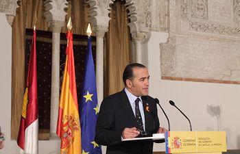 José Julián Gregorio durante el acto de conmemoración del 38 aniversario de la Constitución Española que ha presidido en la Sinagoga del Tránsito de Toledo.