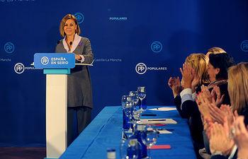 Cospedal en la reunión de Coordinación Comisiones Sectoriales PP-CLM