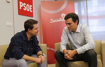 Emiliano García-Page y Pedro Sánchez. Foto: PSOE.
