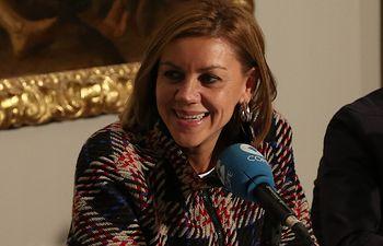 Cospedal es estrevistada en 'La Linterna de Cope' (3). Foto: JCCM.