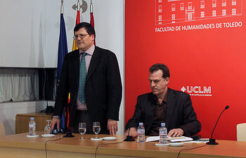 El profesor Crosas y Gabriel Insausti Herrero-Velarde.