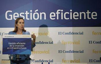 Ana Pastor en las Jornadas de Infraestructuras. Foto: EFE.