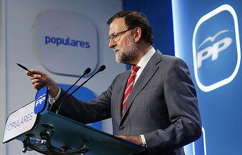 Mariano Rajoy durate la rueda de prensa