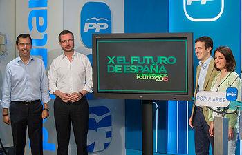 Fernando Martínez-Maíllo, Javier Maroto, Pablo Casado y Andrea Levy presentan el lema de la Conferencia Política: X el Futuro de España