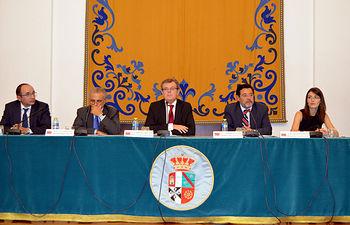 De izda. a dcha.: José María Coronado, Luciano Parejo, Miguel Ángel Collado, Miguel Beltrán y Dolores Utrilla.