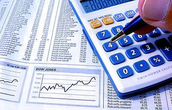 Análisis contable. Imagen de archivo.