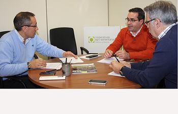 Reunión dirección de Cooperativas y presidente de Recamder. Foto: Cooperativas Agro-alimentarias.