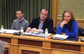 Los concejales de Cs Toni Calvo, Antonio Carrasco y María Jesús Amores