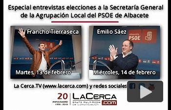 Promo entrevistas candidatos Secretaría Local PSOE Albacete.