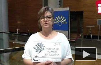 IU: Paloma López toma el relevo de la huelga de hambre en solidaridad con Takbar Haddi