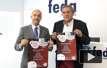 Juan Marcos Molina, concejal de Comercio en el Ayuntamiento de Albacete, junto a Lorenzo López, presidente de la Federación de Comercio de Albacete.