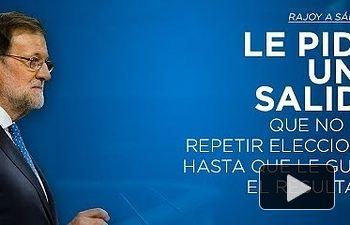 Rajoy a Sánchez: Le pido una salida que no sea repetir elecciones hasta que le guste el resultado