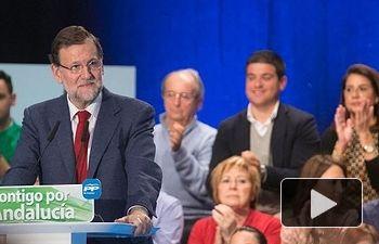 Rajoy: Nosotros no estamos para apuntalar al socialismo en Andalucía