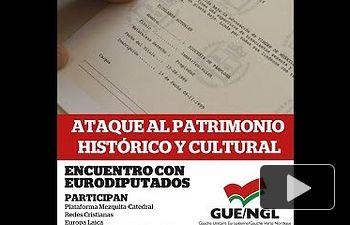 """IU: Rueda de prensa acto """"Inmatriculaciones: ataque al patrimonio histórico y cultural"""""""