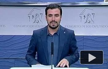 """IU: Alberto Garzón, sobre los presupuestos: """"Son totalmente ideológicos"""""""