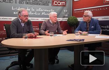 Salvador Jiménez, abogado y exalcalde de Albacete, José María Roncero, presidente de la UCE en Albacete y Manuel Lozano Serna, director del Grupo Multimedia de Comunicación La Cerca.
