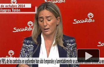 PSOE: Casi el 98% de los contratos en septiembre son temporales, acabarán al terminar la vendimia