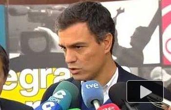 PSOE: Declaraciones de Pedro Sánchez en Langreo, Asturias