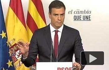 PSOE: Resumen Comparecencia Pedro Sánchez Elecciones Catalanas 27s