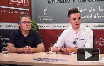 Juan Miguel Tolosa, gerente de la bodega Vega Tolosa y Javier Sanz, jefe de cocina del Hotel Cañitas Maite