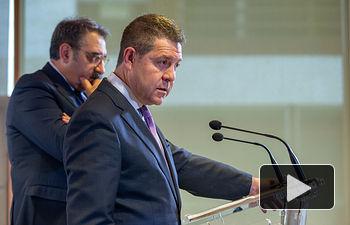 El presidente de Castilla-La Mancha, Emiliano García-Page, preside la reunión del Comité Ejecutivo de Respuesta y Preparación Frente al Coronavirus que se celebra en la Consejería de Sanidad. (Fotos: A. Pérez Herrera // JCCM).