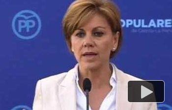 Cospedal: Hay que elegir entre el extremismo de izquierdas y la opción del PP que trae estabilidad