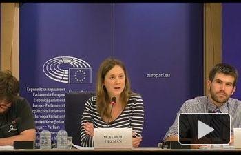 """IU: Rueda de prensa de """"No Somos Delito"""" en el Parlamento Europeo"""