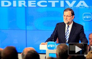 Mariano Rajoy durante su intervención ante la Junta Directiva Nacional