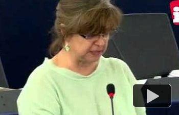 IU: Paloma López defiende el sector del carbón en el Parlamento Europeo