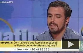 IU: Entrevista a Alberto Garzón en `Els matins` (TV3 16.07.2015)