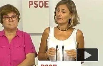 PSOE: Rueda de Prensa de Luz Rodríguez desde Ferraz