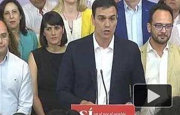 PSOE: Declaraciones Pedro Sánchez tras las elecciones 26J