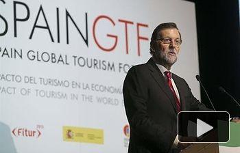 Mariano Rajoy en el Spais Global Tourism Fórum. Foto: EFE.