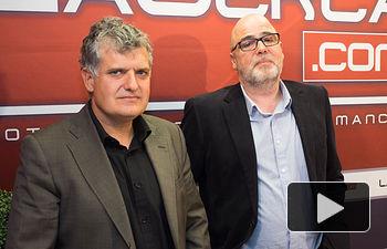 Fernando Prieto, cabeza de lista al Congreso de PODEMOS por Albacete, y Juan Miguel González, cabeza de lista al Senado de PODEMOS por Albacete.