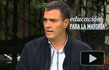Pedro Sánchez: la educación será nuestra gran apuesta como gobierno