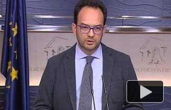 PSOE: Rueda de prensa de Antonio Hernando tras reunión a tres