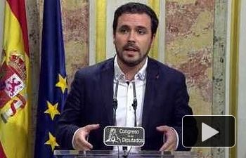 IU: Valoración de Alberto Garzón del discurso de investidura de Mariano Rajoy 30/08/2016