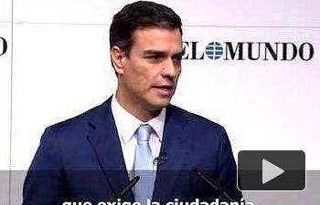Pedro Sánchez: Vamos a impulsar una Ley de Partidos Políticos