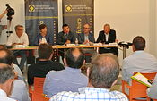 El consejero de Agricultura se reúne con miembros del Consejo Intersectorial de Cooperativas Agroalimentarias de Ciudad Real. Foto: JCCM.