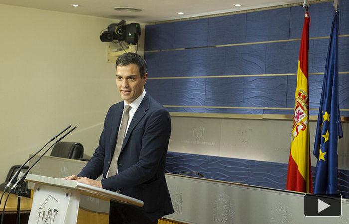 Pedo Sánchez, en rueda de prensa 030216