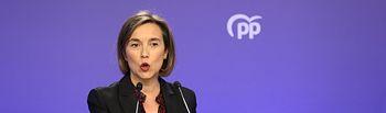 La vicesecretaria de Política Social del Partido Popular, Cuca Gamarra. Foto: Marta Fernández - Europa Press..