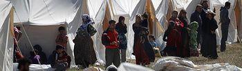 Refugiados Sirios. Foto de archivo.