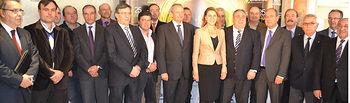 María Dolores Cospedal con el Consejo Rector de Cooperativas. Foto: Cooperativas Agro-alimentarias.