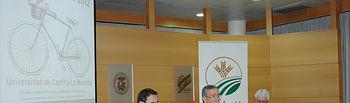 De izqda a dcha, Rodolfo Bernabéu, Pedro Carrión y Francisco Javier Martínez Ortuño.