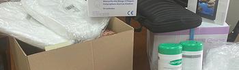 CEOE-CEPYME Guadalajara entrega 40.000 guantes y 4.000 mascarillas.