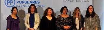 Las diputadas del Grupo Parlamentario Popular en las Cortes de Castilla-La Mancha.