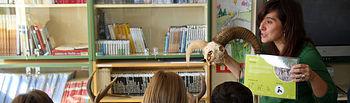 Sesión de uno de los talleres celebrados por el IREC en un colegio.